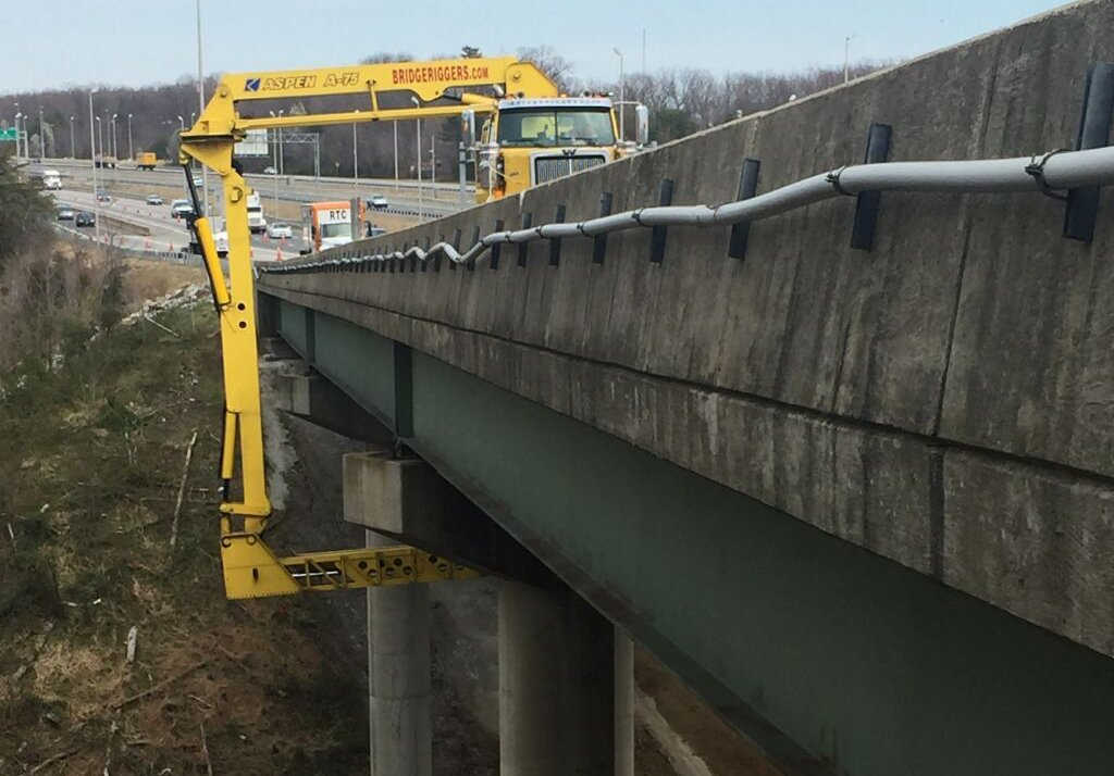 Three areas of a crumbling bridge over Neabsco Creek, just south of Potomac Mills Mall in Virginia, need extensive repairs. (Courtesy VDOT)
