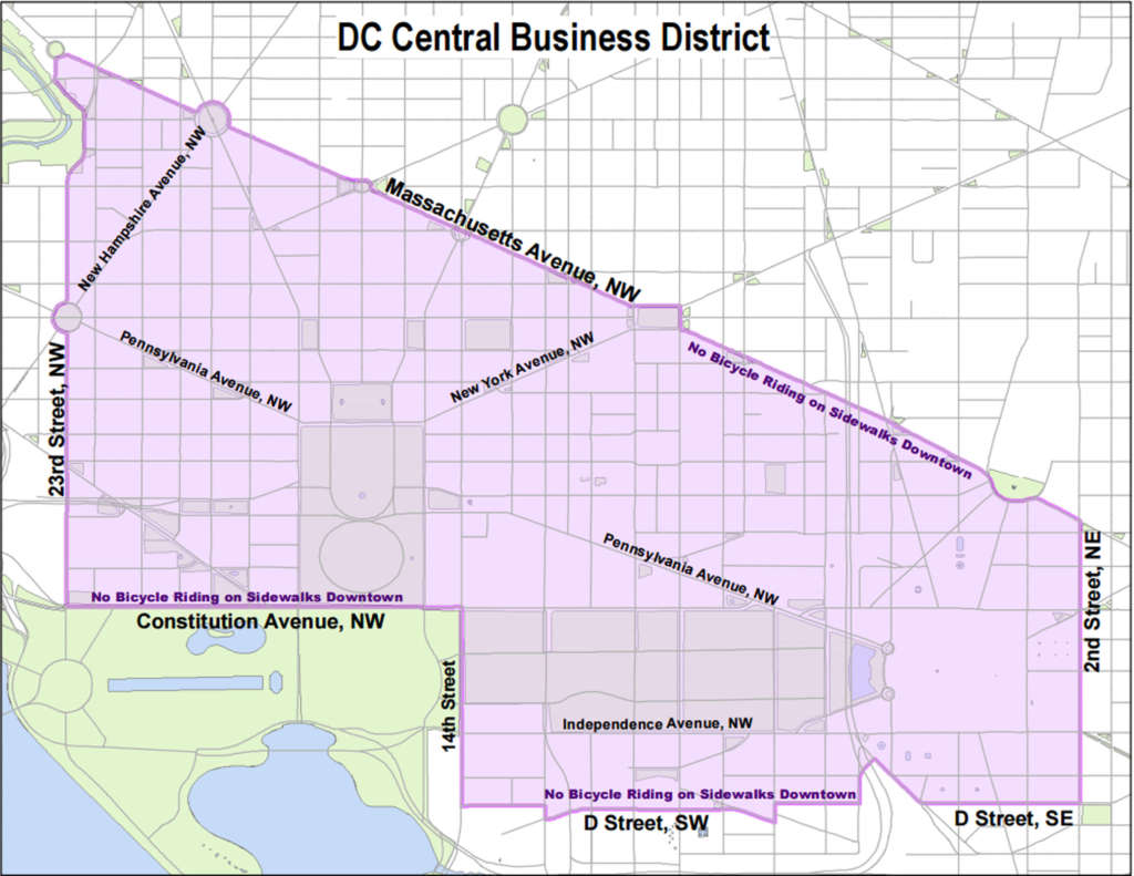 Red top meter rules to kick in for DC's central business district | Dc Parking Meter Map on