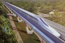 The Superconducting Levitation train could take travelers from D.C. to Baltimore in as little as 15 minutes. (Courtesy of Baltimore-Washington Rapid Rail)
