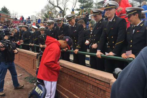 Photos: Nats, Red Sox face off at Naval Academy exhibition game
