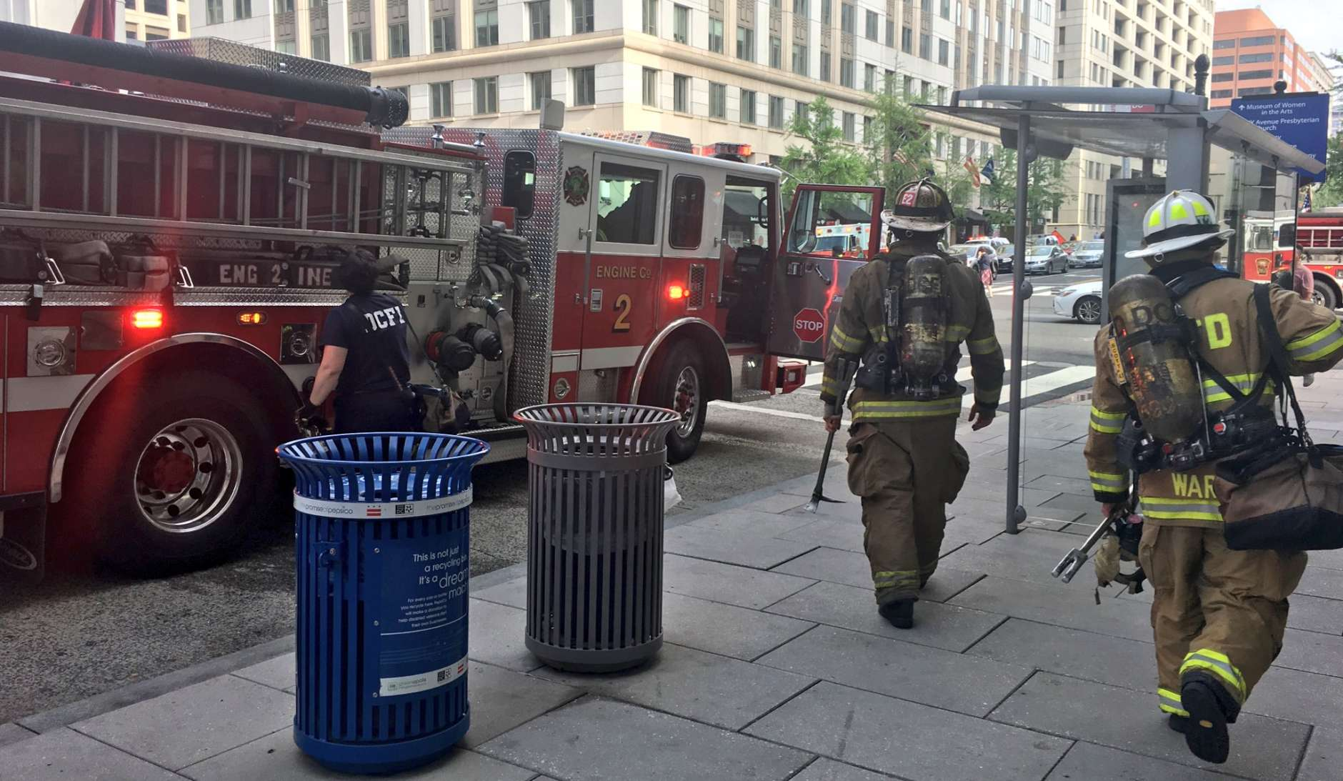 D.C. fire officials leave the scene where they were investigating smoke in a Metro tunnel Thursday morning. (Courtesy D.C. Fire & EMS)