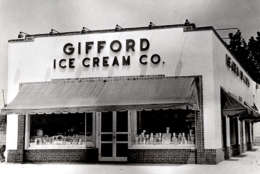 Gifford's Ice Cream's Silver Spring location is shown in this 1938 photo. The chain was a local institution for nearly 50 years. (Photo courtesy of Andrew Gifford)