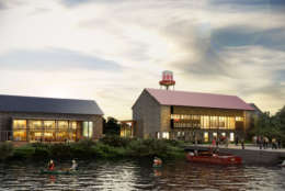 Sagamore Spirit Distillery sits on five waterfront acres in Baltimore's Port Covington. (Courtesy Sagamore Spirit)