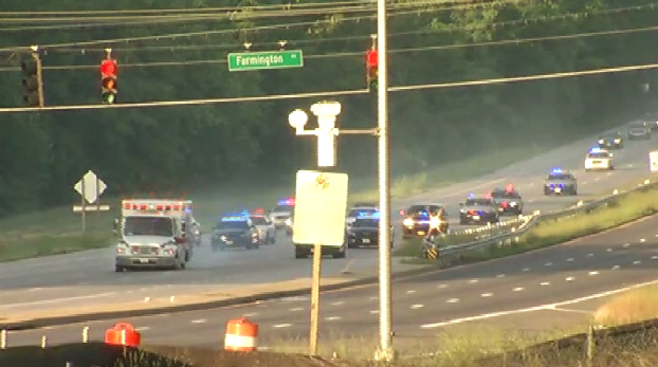 Police chased a stolen ambulance through Prince George's County Friday morning (Courtesy NBC4)