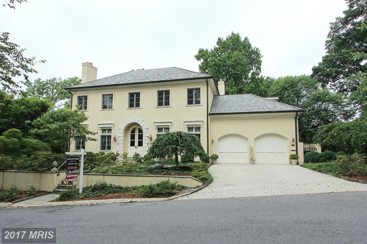 5. $3.3 million 2970 Chain Bridge Road NW Washington, D.C. Built in 2003, this custom Italianite mansion has five bedrooms, seven full bathrooms and two half-baths. Features include imported Brazilian wood flooring, eight-zone heating, a two-car garage with electric elevators, a generator, a safe room and a sauna. (Photo courtesy MRIS, a Bright MLS)