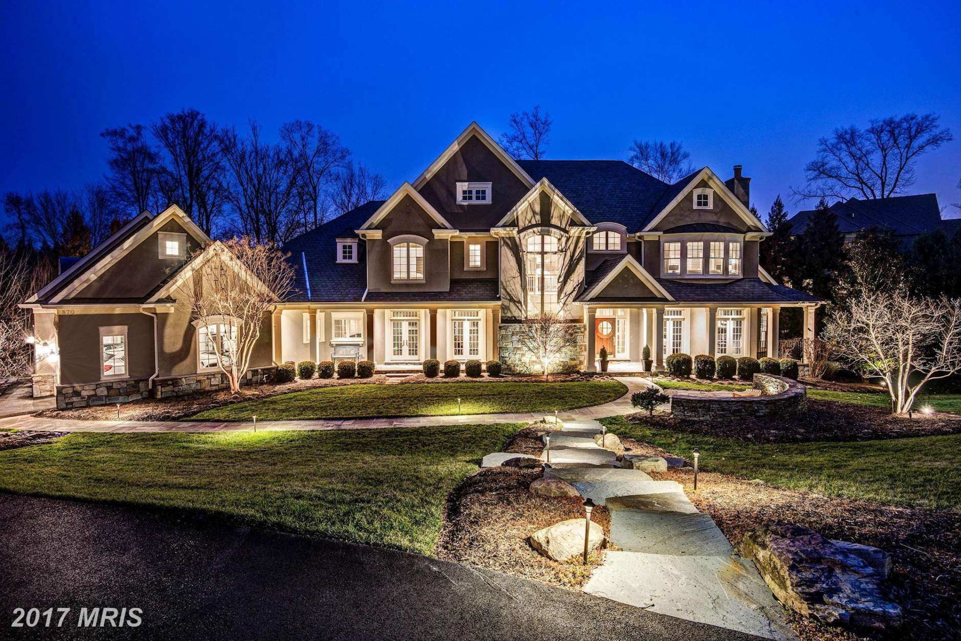 6. $3.225 million 870 Alvermar Ridge Drive McLean, Virginia Sitting on a nearly 1-acre flat lot, this 2002 home has over 9,000 square feet of interior that includes eight bedrooms, seven full bathrooms and two half-bathrooms. Features include a chef's kitchen, flex spaces, an au pair suite and a luxury master suite. (Photo courtesy MRIS, a Bright MLS)