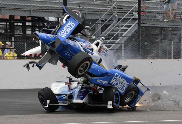 Scott Dixon knocked out of Indy 500 after frightening crash