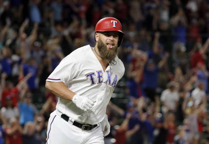 Rangers score trio of runs without hits, beat Padres 4-3