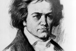 This is an undated sketch of German composer Ludwig van Beethoven.  Beethoven was born in Bonn on Dec. 17, 1770 and died in Vienna on March 26, 1827.  (AP Photo)