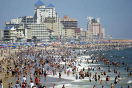 Sandwiched between the Atlantic Ocean and the Isle of Wright Bay, and just north of Assateague State Park, is Ocean City Maryland, home to 7,089 residents. However, the small resort town is anything but sleepy. (AP Photo/Matthew S. Gunby)