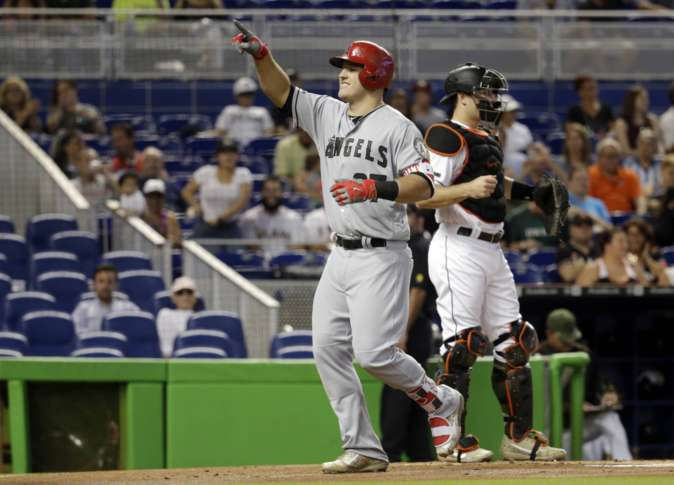 Miami Marlins pull away from Angels for rare series victory
