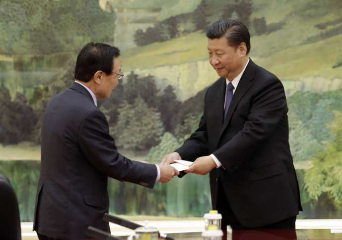 Chinese, S. Korean officials seek to mend rift with meetings