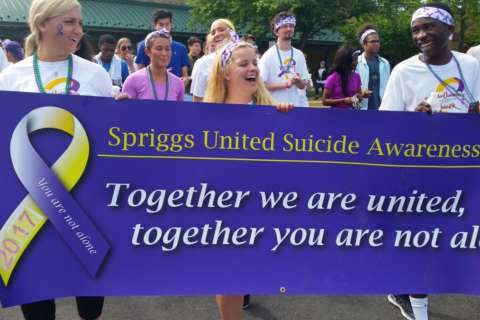 Local teens march in fight against suicide