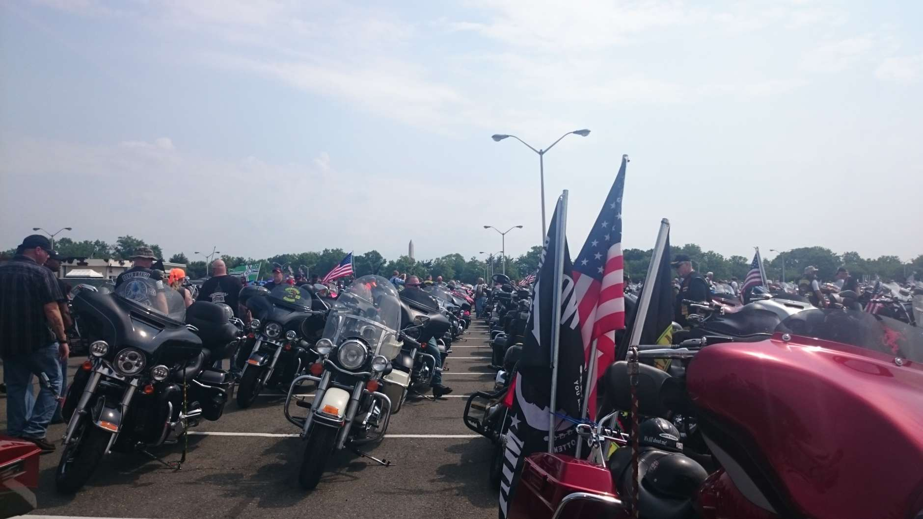 Thousands mounted their motorcycles this weekend for the annueal Rolling Thunder event. (WTOP/Dennis Foley)