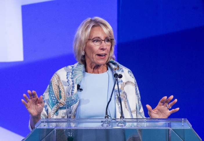 Despite protests, DeVos delivering Bethune-Cookman address