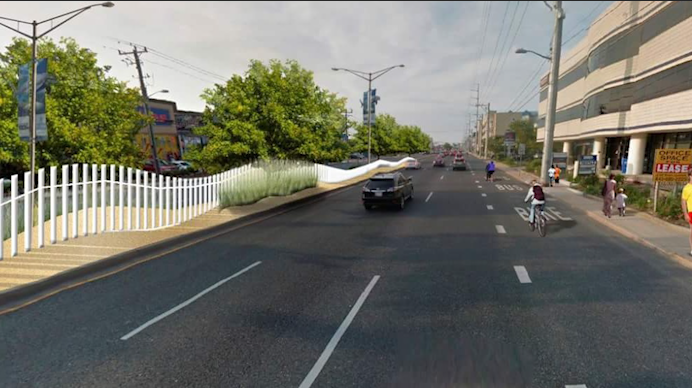 The Coastal Highway median fencing, when complete, is designed to mimic fencing commonly used beachside along sand dunes. (Graphic rendering courtesy State Highway Administration)