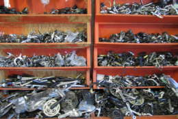 VeloCity Bicycle Cooperative in Alexandria, Virginia, sells used parts at a discount. (WTOP/Abigail Constantino)