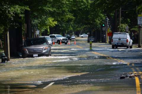 Roads closed, homes flooded as water main breaks in Northwest DC