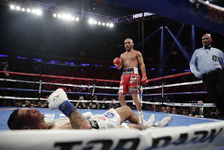 US Olympic boxer Stevenson wins again on Crawford undercard