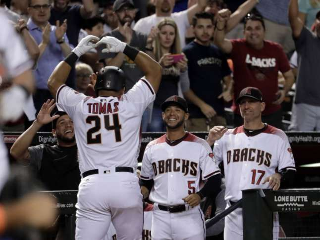 Tomas, Greinke help Diamondbacks top reeling Mets again, 5-4