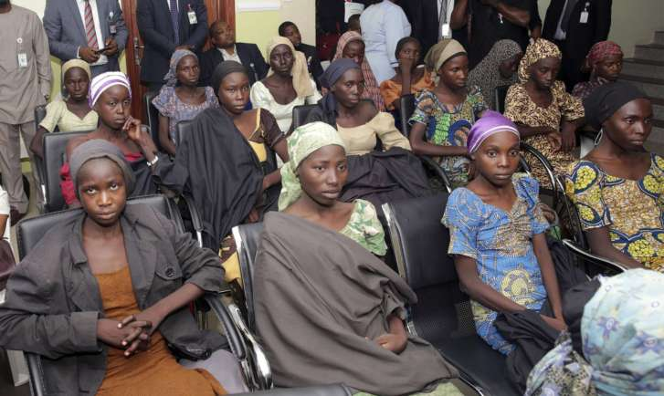 Freed Chibok girls arrive in Abuja
