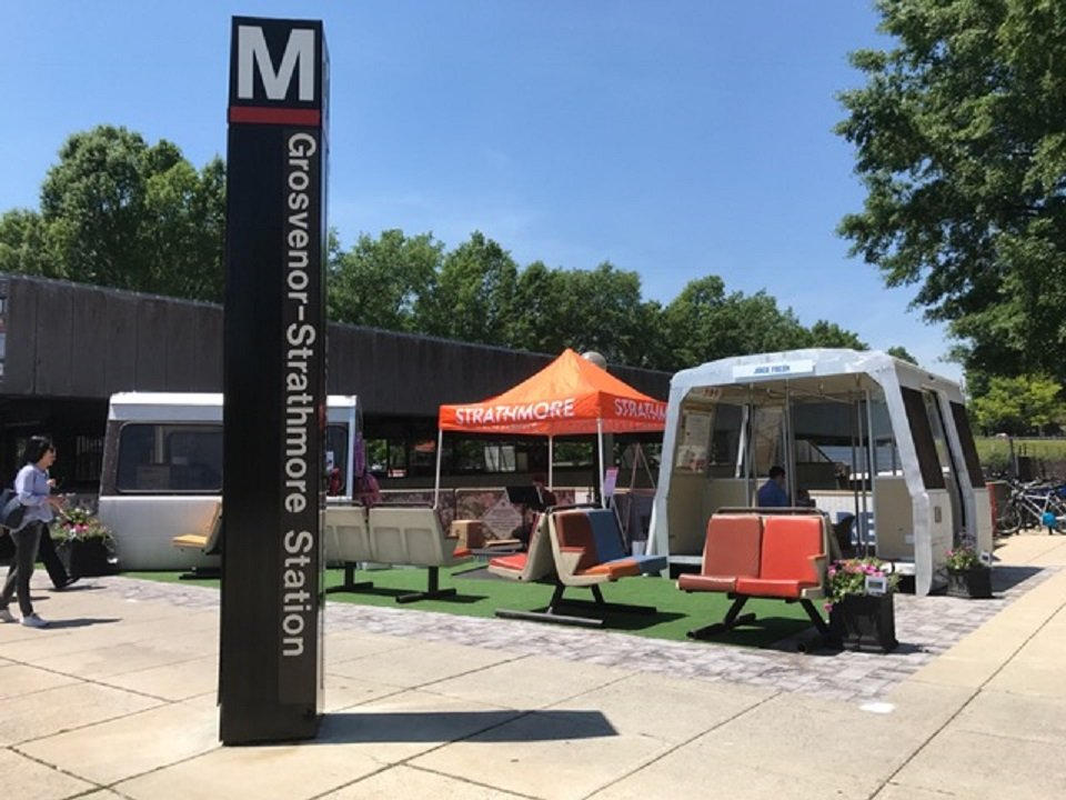 The pop-up vendor plaza is part of a pilot project for Metro to see if food stalls and other vendors make sense for Metro stops. (Courtesy Fivesquares Development)