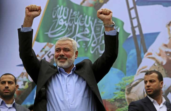 New Hamas chief makes first public appearance in native Gaza