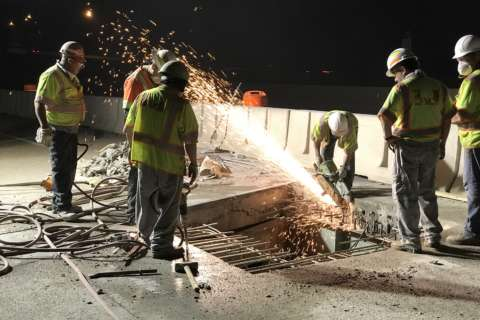 2nd round of major bridge repairs on I-95 postponed due to moisture