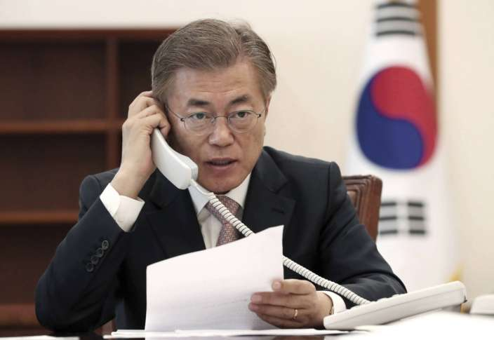 Donald Trump speaks with new South Korean president Moon Jae