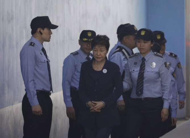 S.Korea's Park leaves court after start of trial