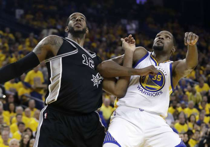 Spurs star Kawhi Leonard out for game three against Warriors