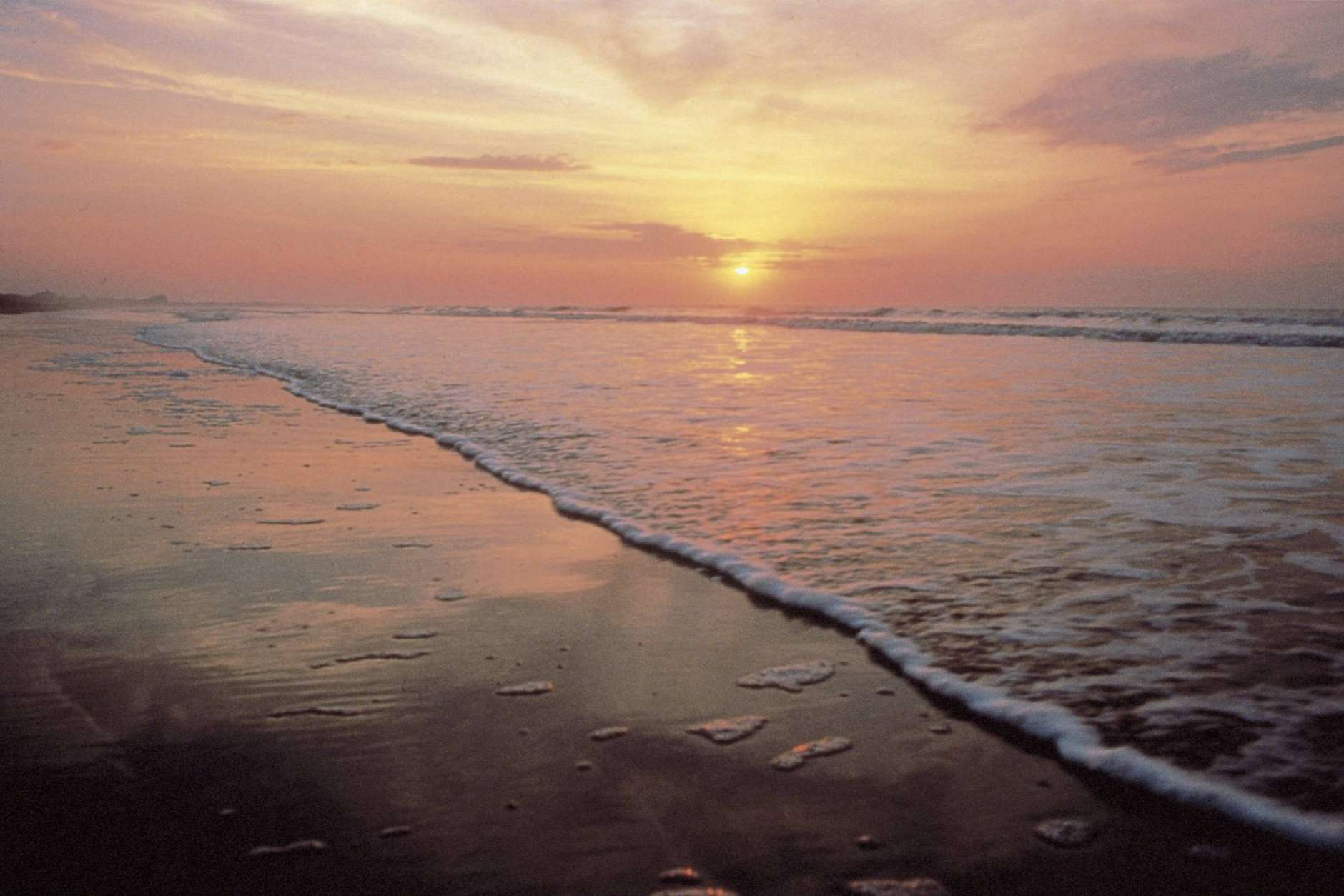This undated photo provided by the Kiawah Island Golf Resort shows sunrise as seen from Beachwalker Park, Kiawah Island, South Carolina. Beachwalker is No. 10 on the list of best beaches for the summer of 2017 compiled by Stephen Leatherman, also known as Dr. Beach, a professor at Florida International University. (Kiawah Island Golf Resort via AP)