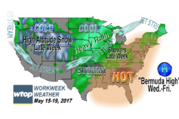 Last week ended on a very soggy note, but this week will give us a preview of summer weather. (WTOP/Storm Team 4)