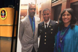 Richard Collins III, 23, was a Bowie State University student who was about to graduate and was just commissioned last week to join the Army as second lieutenant. In the early hours of Saturday, he was stabbed to death on the University of Maryland's College Park campus. (WTOP/Michelle Basch)
