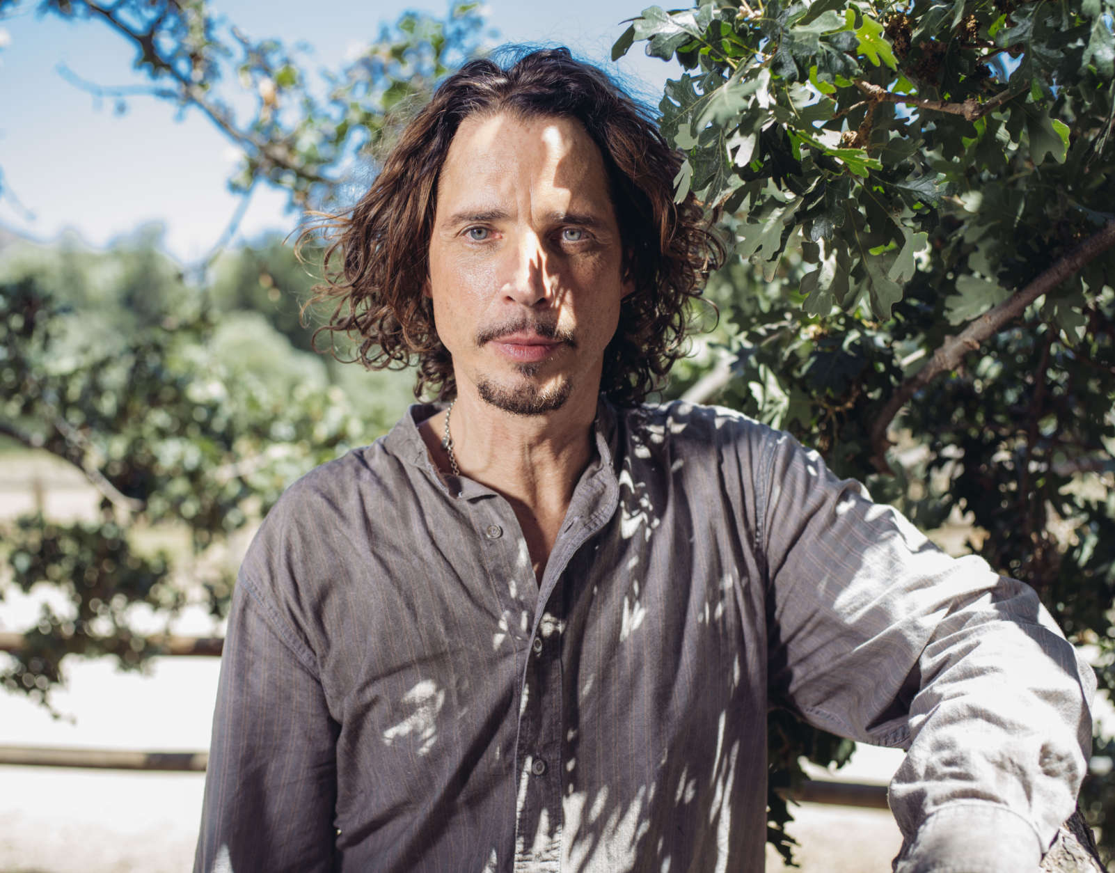 """In this July 29, 2015 photo, Chris Cornell poses for a portrait to promote his latest album, """"Higher Truth,"""" at The Paramount Ranch in Agoura Hills, Calif. (Photo by Casey Curry/Invision/AP)"""