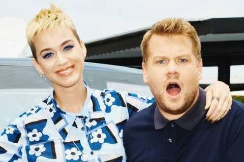 """James Corden says during """"Carpool Karaoke,"""" he helped Katy Perry make up her mind about """"American Idol"""""""
