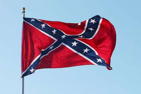Confederate flag along I-95 in Stafford Co. vandalized