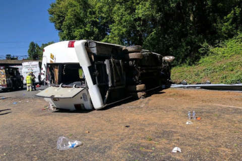 All lanes reopen on I-95 north of Baltimore after bus crash