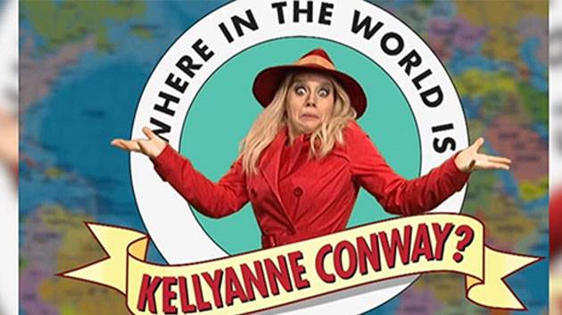 'SNL' asks 'Where in the World is Kellyanne Conway?'