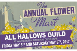 This year's Flower Mart poster is a re-working of the poster used for the 1949 Flower Mart. (Photo courtesy All Hallows Guild)