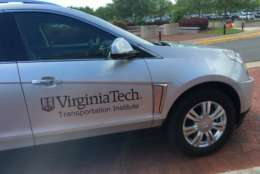 """In Virginia, it's a little bit more discreet so companies could test in real-world environments and you wouldn't even know, so we have some proprietary studies going that route, but we also have some public ones where the general population can take part in some automated vehicle testing,"" Viray said. (WTOP/Max Smith)"