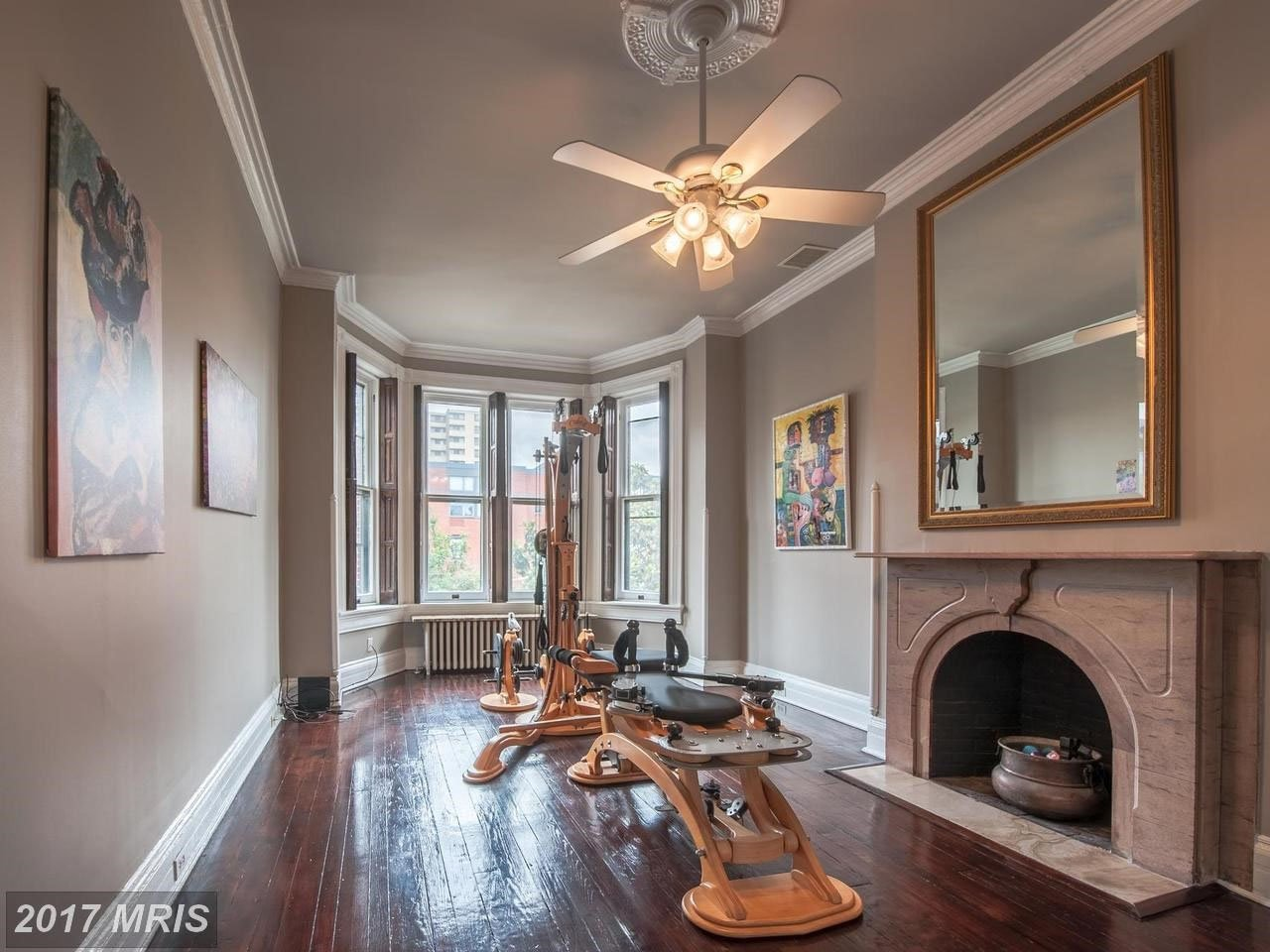 "A late 19th-century Victorian brick row house in Baltimore whose exterior was seen in the TV series ""House of Cards"" as the abode of power-hungry D.C. power couple Frank and Claire Underwood is going up for auction. (Courtesy MRIS)"