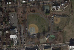 An aerial view of the ball park courtesy of Google Earth.