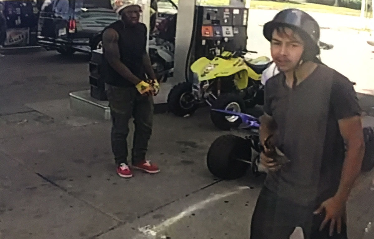 The photos released by police were caught on videos form gas station surveillance cameras and police dashcams. (Courtesy Prince George's County police)