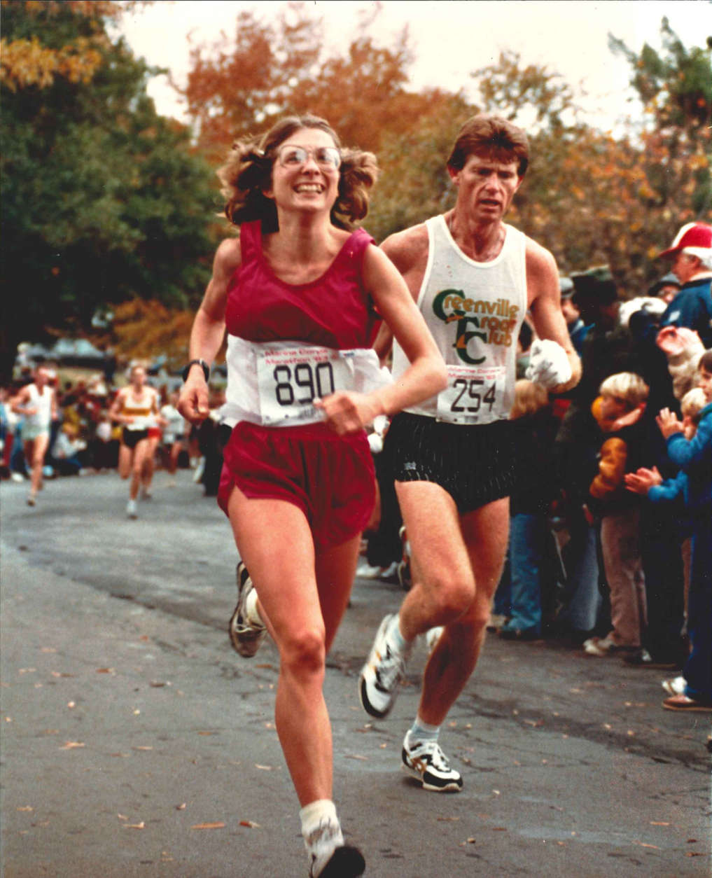 Susan Mallery of Columbus, Ohio, was the first place female finisher in the Marine Corps Marathon's first two years: 1976 and 1977. (Courtesy Marine Corps Marathon)