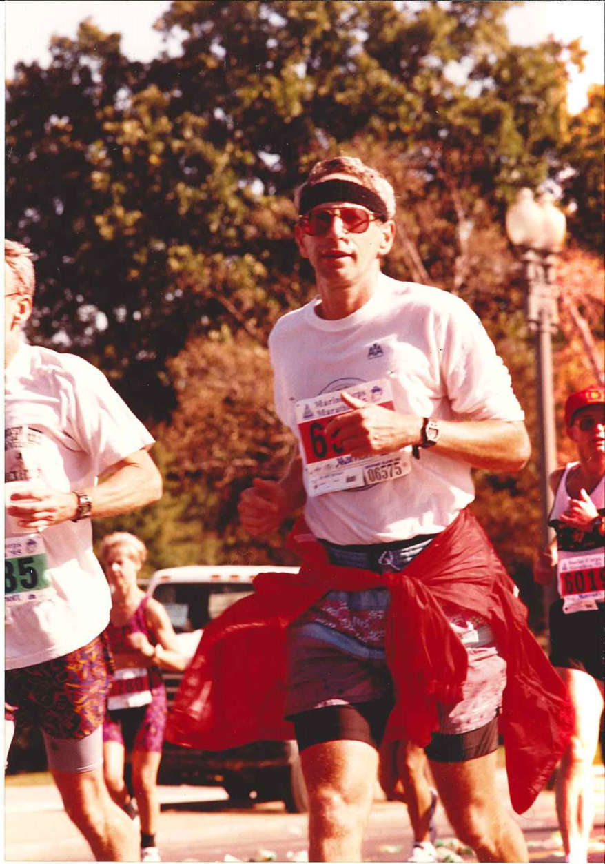 A runner in the 1995 Marine Corps Marathon race. (Courtesy Marine Corps Marathon)