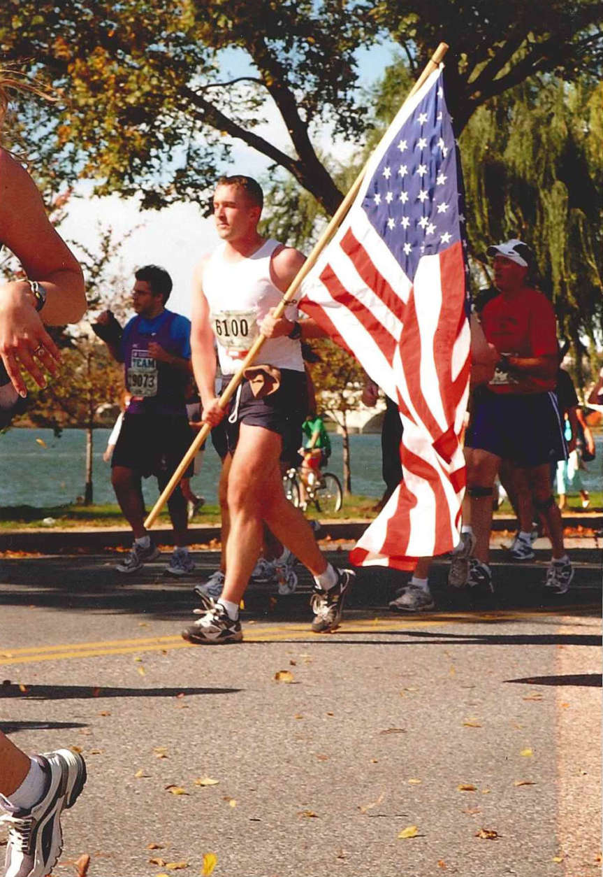 2004 on Haines point; TIT is one of the longest charities (Courtesy Marine Corps Marathon)