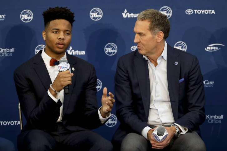 76ers pick Markelle Fultz as first overall in NBA draft