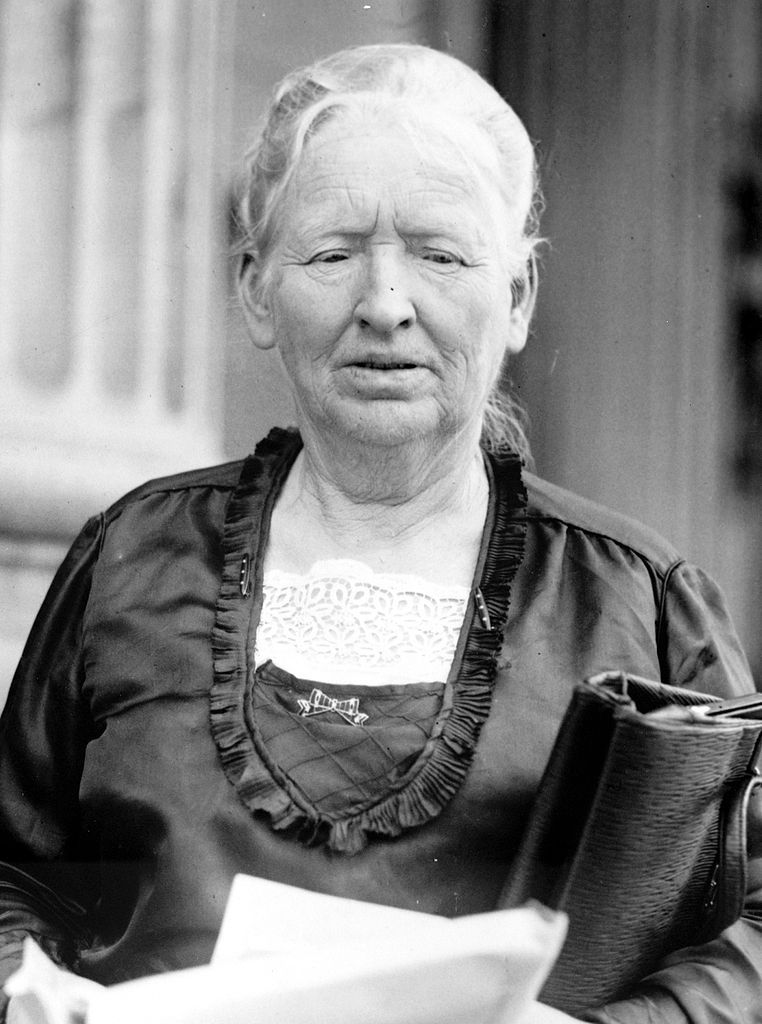 In 1921, U.S. Rep. Alice Mary Robertson, R-Okla., became the first woman to preside over a session of the House of Representatives.  (Courtesy U.S. Congress)
