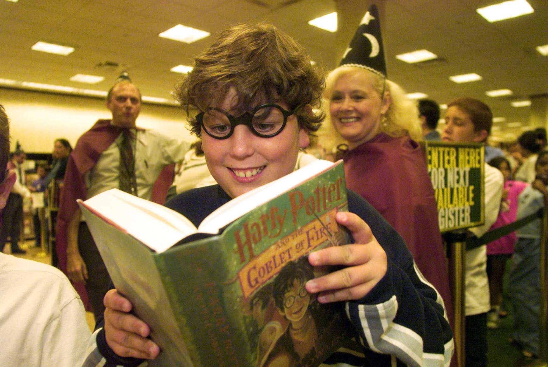The Harry Potter series inspired midnight bookstore openings with long lines; many of our readers continue to go through the series. (WTOP/Jill Connelly)